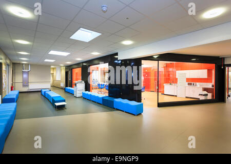 Break out area at Isle of Wight Studio School - Stock Image