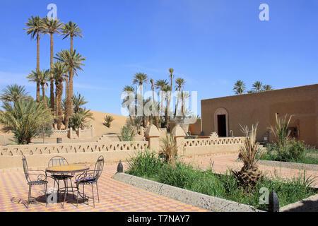 Hotel Auberge Sahara, Merzouga, Morocco - Stock Image