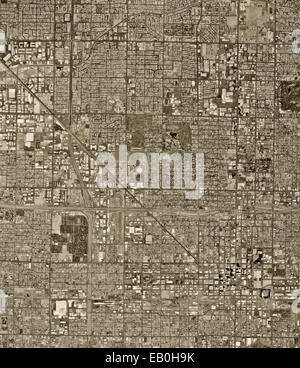 historical aerial photograph of Phoenix, Arizona, 1997 - Stock Image