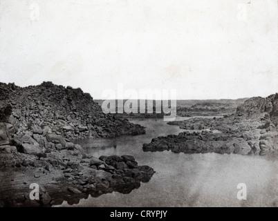 Sortie de la Premiere Cataracte, Haute Egypte, 1850, by Maxime du Camp - Stock Image