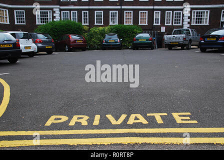 Private Parking in Haverstock Hill, London United Kingdom - Stock Image