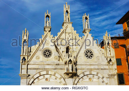 Pisa, Italy - August 21, 2014: Front of the Santa - Stock Image