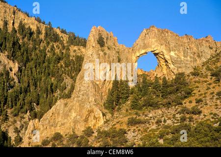 Lexington Arch in Lexington Canyon, Great Basin National Park, Nevada, USA - Stock Image