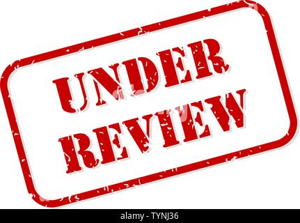 Under review red rubber stamp vector isolated - Stock Image