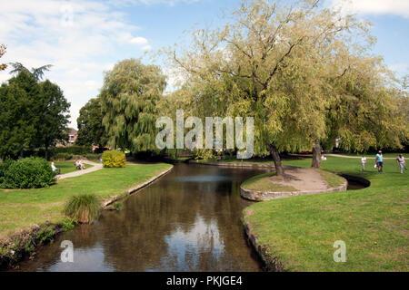 Queen Elizabeth Gardens, Salisbury, re opens after the Skripal novichok tragedy, Wiltshire, England - Stock Image