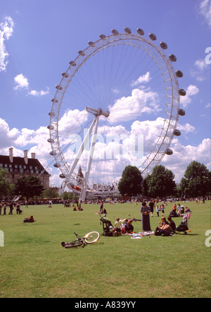London Eye South Bank - Stock Image