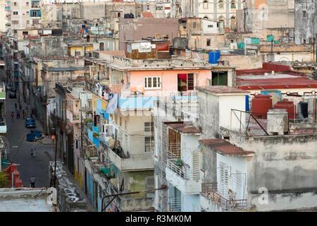 Cuba, Havana. Overview of residential street and apartments. Credit as: Wendy Kaveney / Jaynes Gallery / DanitaDelimont.com - Stock Image