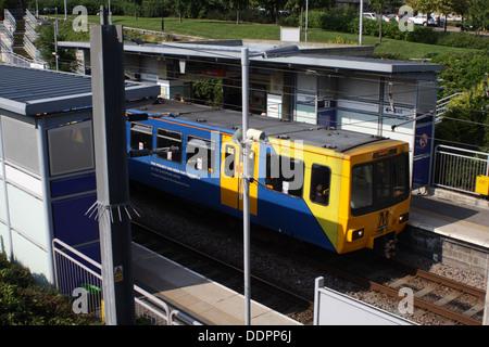 Sunderland University Metro Station. - Stock Image