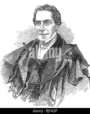 GIDEON MANTELL (1790-1852) English surgeon, geologist, palaeontologist - Stock Image
