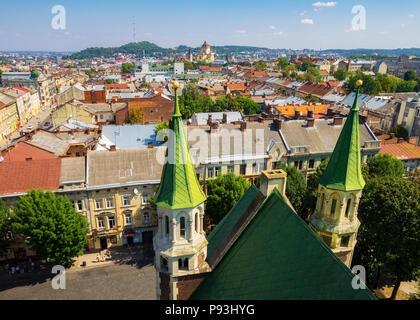 Elizabeth church in Lviv - Stock Image