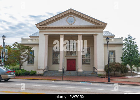 Greeneville, TN, USA-10-2-18: Asbury United Methodist Church, built in about 1911. - Stock Image