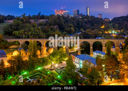 View of the Pulvermuhl Viaduct Luxembourg City, Luxembourg - Stock Image