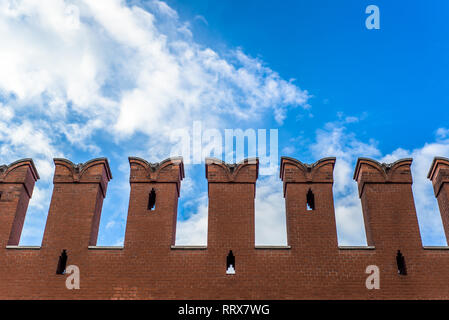 Russia, Red Square. Moscow Kremlin wall architecture element - Stock Image