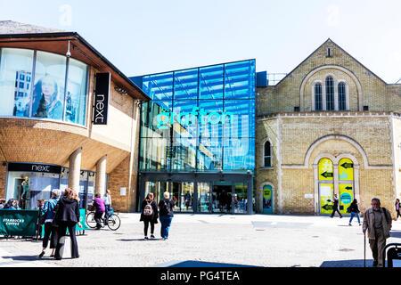 The Grafton shopping centre Cambridge UK, The Grafton Cambridge UK, shopping centres UK, exterior, The Grafton, Cambridge, UK shopping centre, centres - Stock Image