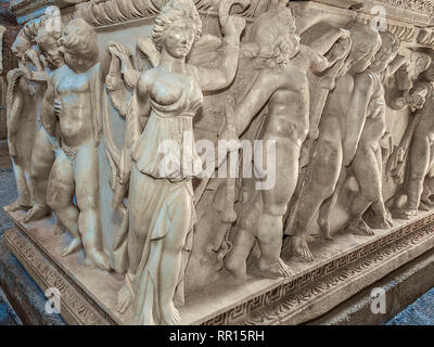 Sarcophagus, Side Museum, Side, Turkey - Stock Image