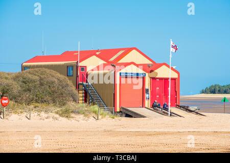 Wells-next-the-Sea RNLI Lifeboat Station, North Norfolk coast, East Anglia, England, UK. - Stock Image