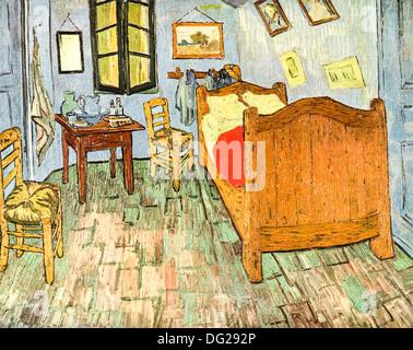 Bedroom in Arles by  Vincent Van Gogh 1888 - Stock Image