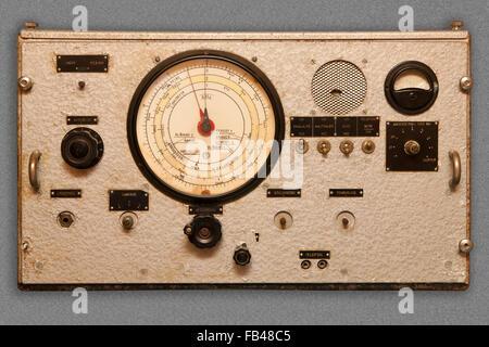 Old ship radio - Stock Image