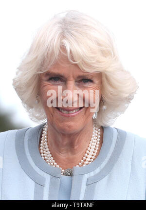 The Duchess of Cornwall during a visit to Powerscourt House and Gardens in Enniskerry, Co Wicklow, on the first day of their visit to Ireland. - Stock Image