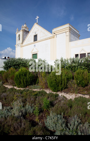 Portugal, Algarve, Ferragudo, Church - Stock Image