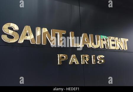 Saint Laurent boutique Hong Kong island China - Stock Image