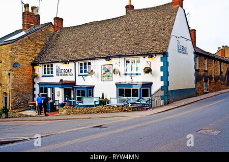 Chipping Norton, Oxfordshire, The Blue Boar Pub, Goddarts Lane, England - Stock Image