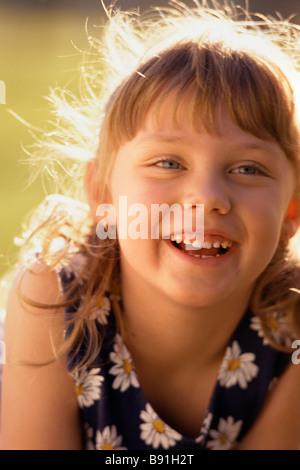 Little girl smiling - Stock Image