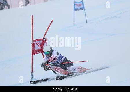08 Dec. 2018 Val d'Isère, France. Filip Zubcic alpine skier from Croatia competing in men's Giant Slalom Audi FIS Alpine Ski World Cup 2019 - Stock Image
