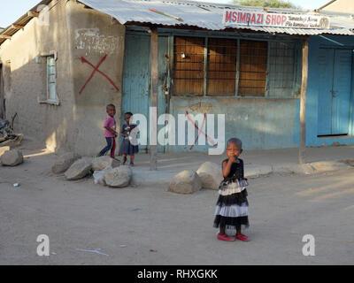 TANZANIA  -  photo by Sean Sprague 2018  Bukundi, Shinyanga. Street scene. - Stock Image