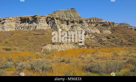 Drumheller Hoodoos at Sunrise in Alberta, Canada. - Stock Image