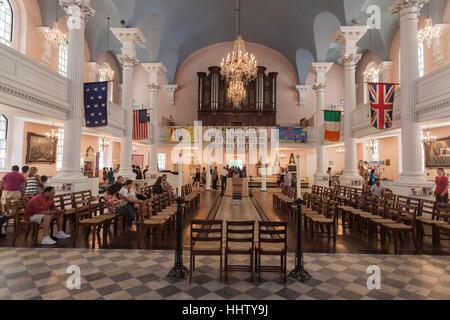 St Paul Church interior New York City - Stock Image