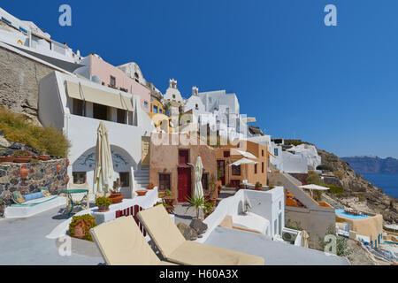 Beautiful Oia village , Santorini - Stock Image