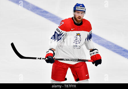 FILIP HRONEK (Czech) is seen during the match Czech Republic against Sweden at the World Championship in Bratislava, Slovakia, May 10, 2019. (CTK Phot - Stock Image
