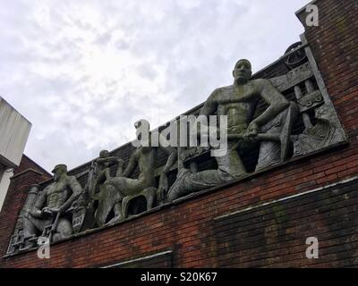 Sculpture in Dudley town centre by Edward Bainbridge Copnall (1903-73), born Cape Town, President of the Royal Society of Sculptors from 1961 to 1966. - Stock Image