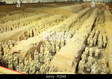 Terracotta army, Xian, Shaanxi, China - Stock Image