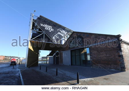 Exterior of Water's Edge City Quay Dundee Scotland  January 2019 - Stock Image