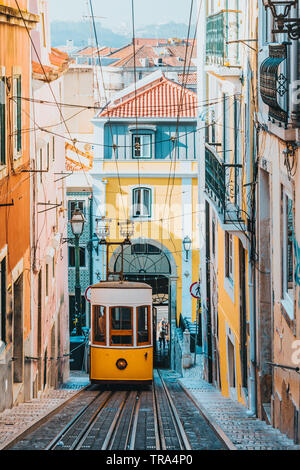Elevador da Bica, Lisbon, Portugal, Europe - Stock Image