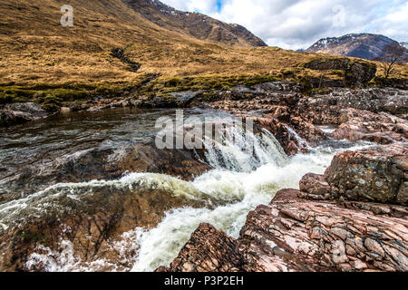 A beautiful image of a Scottish Waterfall - ideal as a poster or print for your home or office. - Stock Image