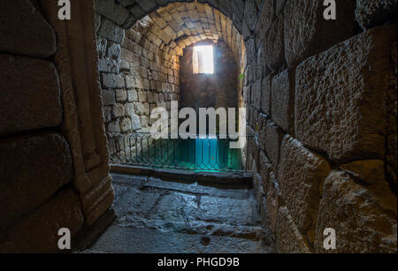 Roman water cistern at Alcazaba arab citadel. Merida, Extremadura, Spain - Stock Image