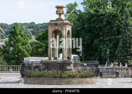 Pieroni's fountain on Terrace Walk in the city of Bath - Stock Image