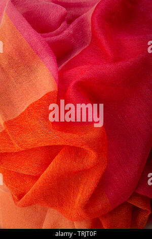 Red & Pink Cashmere Fabric Detail - Stock Image