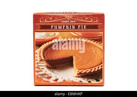 Trader Joe's Prepared Frozen Pumpkin Pie - Stock Image