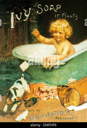 A Victorian advertisement for Ivy Soap - Stock Image