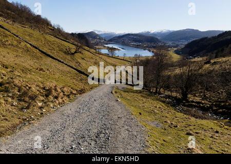Part of the old Postal Road between Bergen and Trondheim in Åsane, Bergen, Norway. - Stock Image