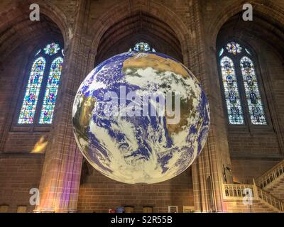 The world, Liverpool cathedral - Stock Image
