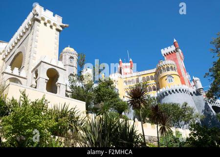 Pena Palace, Sintra, Portugal - Stock Image