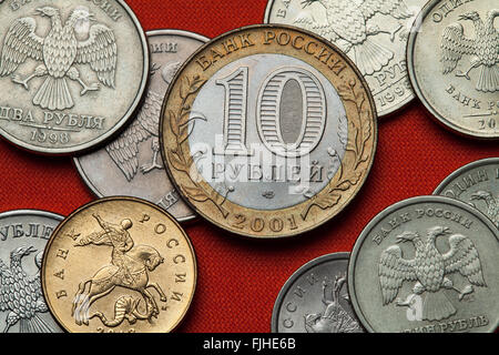 Coins of Russia. Russian 10 ruble coin. - Stock Image