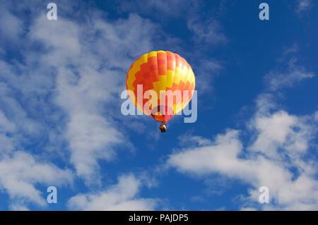 a Kubicek BB-30 hot-air balloon flying - Stock Image
