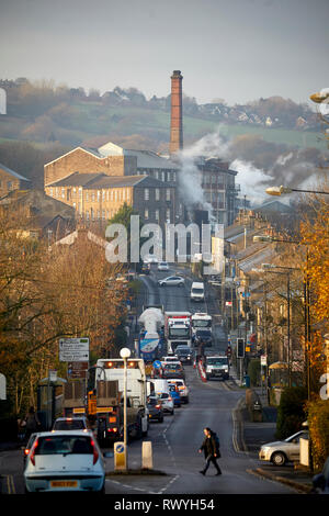 New Mills in Derbyshire, England Swizzels Matlow Ltd set factory at the end of Albion Road - Stock Image