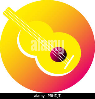 icon guitar.   illustration of iconic guitar, musical instrument icon. - Stock Image